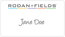 Rodan + Fields Name Tag Stickers